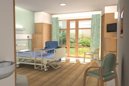 Border's General Hospital-  the Margaret Kerr Unit- Inside of Room_palliative- Melrose, Scotland