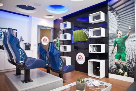 The EA SPORTS Gaming Box at Manchester City Football Club- Etihad Stadium