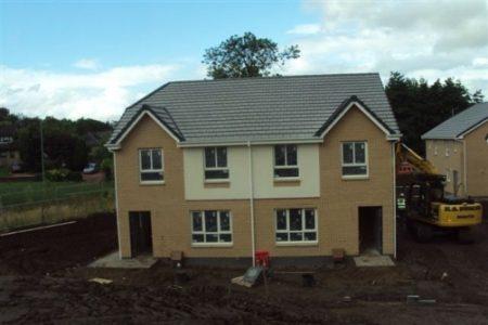 Auchinairn Road Housing development north of Glasgow