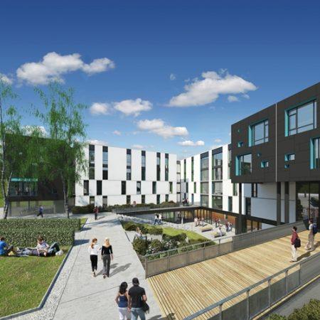 student village- Heriot-Watt University's Edinburgh campus