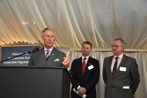 Prince Charles opens renewable energy plant - Rainbarrow Farm