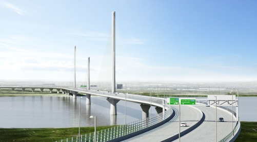 Merseylink- Mersey Gateway Project by Halton Borough Council., River Mersey