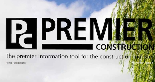 This month in Premier Construction Issue 19-4