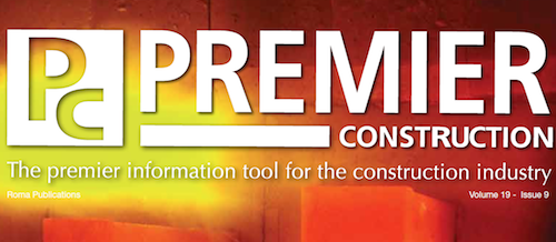This month in Premier Construction Issue 19-9