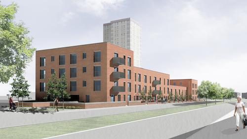 Redevelopment in West Pilton Crescent