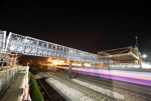 Bridge successfully installed across operational railway in south London