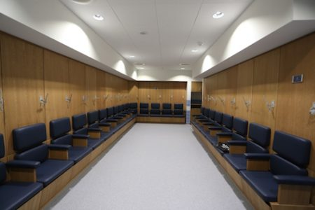 Manchester City Women's Football Club changing room