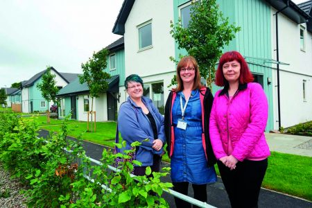 Emma Micklethwaite, Highland Council, Yvonne Simpson, Albyn Housing and Amanda McKay, Scottish Government