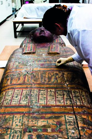 •Coffin lid of Padiamun. 664 BC - 525 BC (Dynasty 26). © Courtesy of National Museums Liverpool