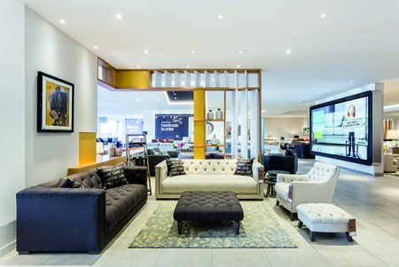 DFS (Edinburgh), Roomset display and Interactive Video Wall Feature