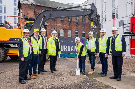 Mayor of West Midlands Breaks Ground At Newhall Square Development