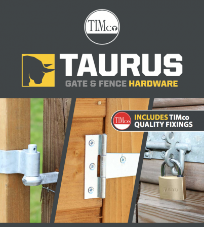 TIMco Launch New Gate & Fence Hardware Range Under The Brand Taurus