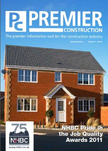 Premier Construction Magazine- Issue 16-6- NHBC Awards 2011