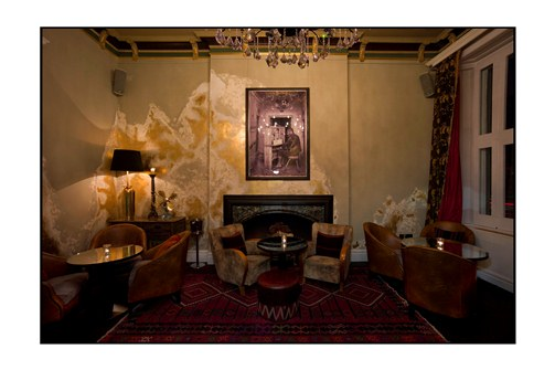 Coya members fireplace- Mayfair- London
