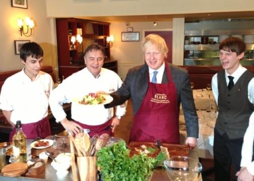 Blanc serves up apprentice drive- Mayor Boris Johnson