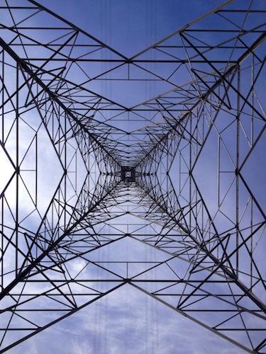 Tees Crossing- Middlesbrough, Pylon, Overhead power line