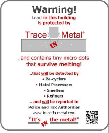 Trace-in-Metal, anti-metal theft