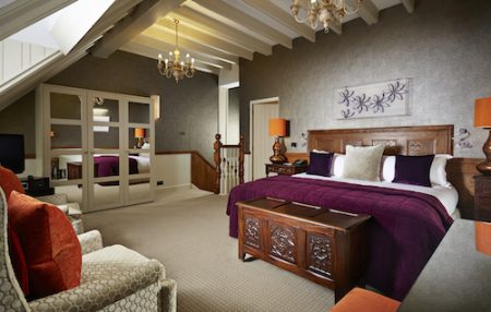 Pennyhill Park Luxury Hotel & Spa , Bedroom on the upper floor of the Apartmant Begonia, lush Greenland, Surrey