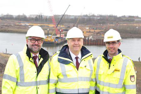New bridge foundations to start as cofferdam near completion