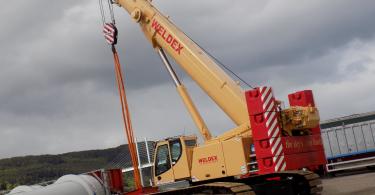 Weldex Cranes Comply With London NRMM Low Emission Zone Through Eminox CRT Retrofit