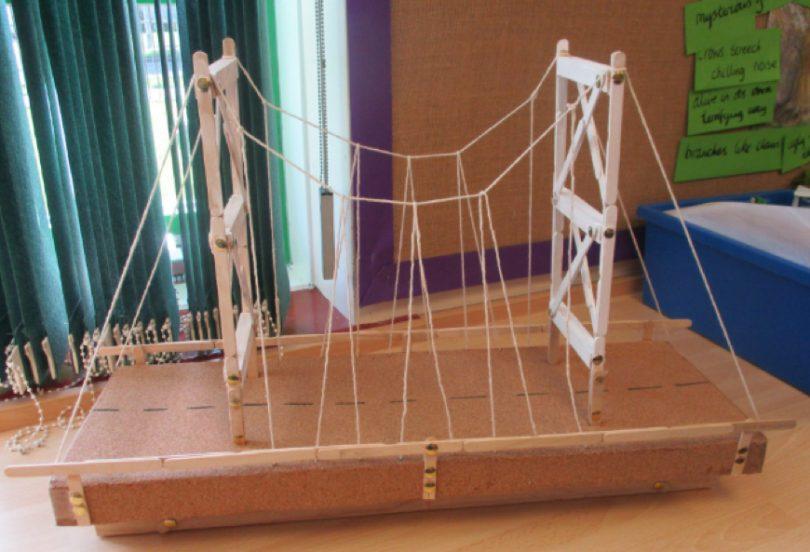 Children Mark Historic Joining of Bridge Deck