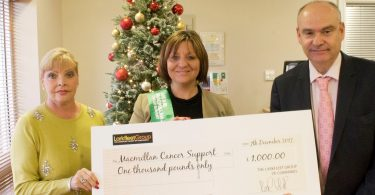 Cancer Care Charity gets donation From Larkfleet Homes