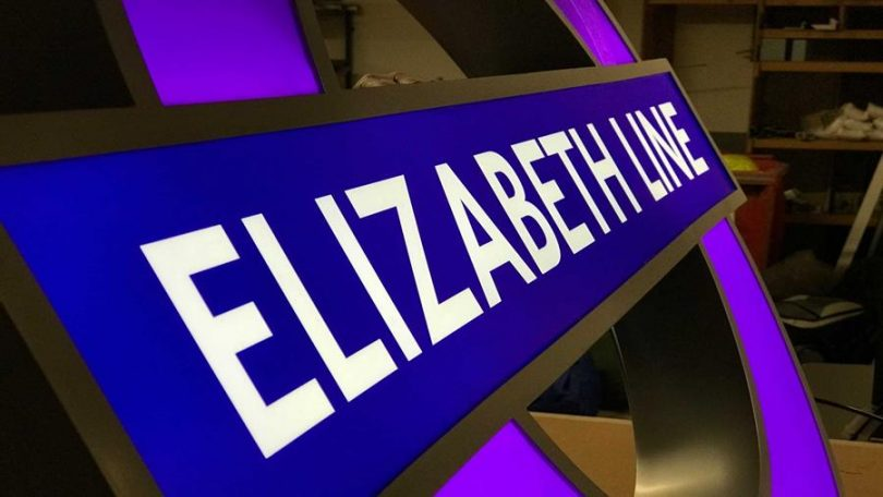 Elizabeth Line Stations Take Shape As The First Iconic Purple Roundels Are Installed