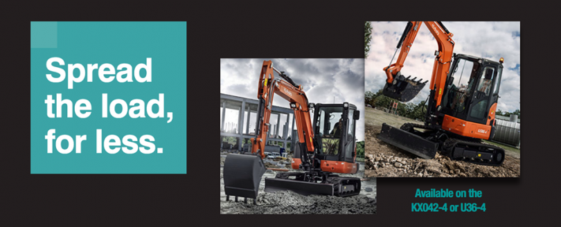 Kubota Launches Flexible Finance Solutions On The KX042-4 & U36-4
