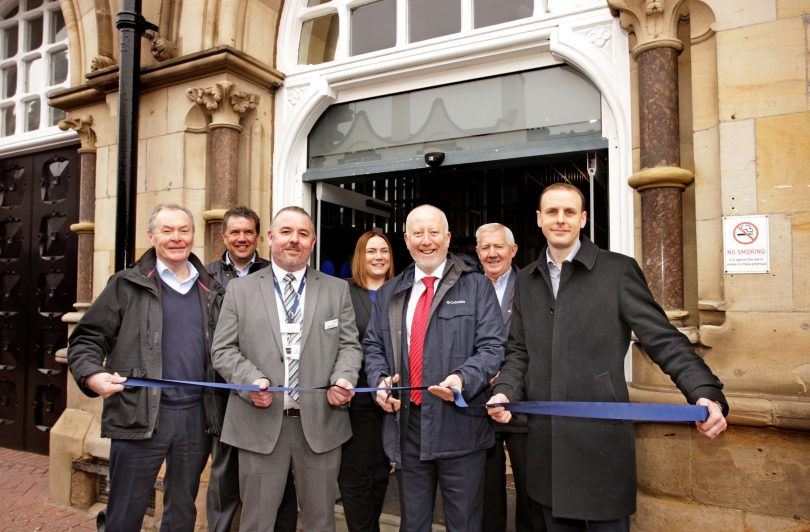 Restored Entrance to Middlesbrough Train Station Formally Re-Opened by Local MP
