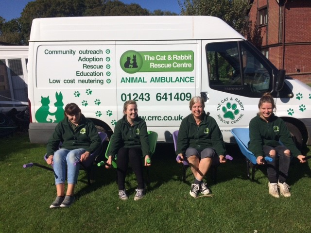 Covers Chichester Donates wheelbarrows to Animal Charity