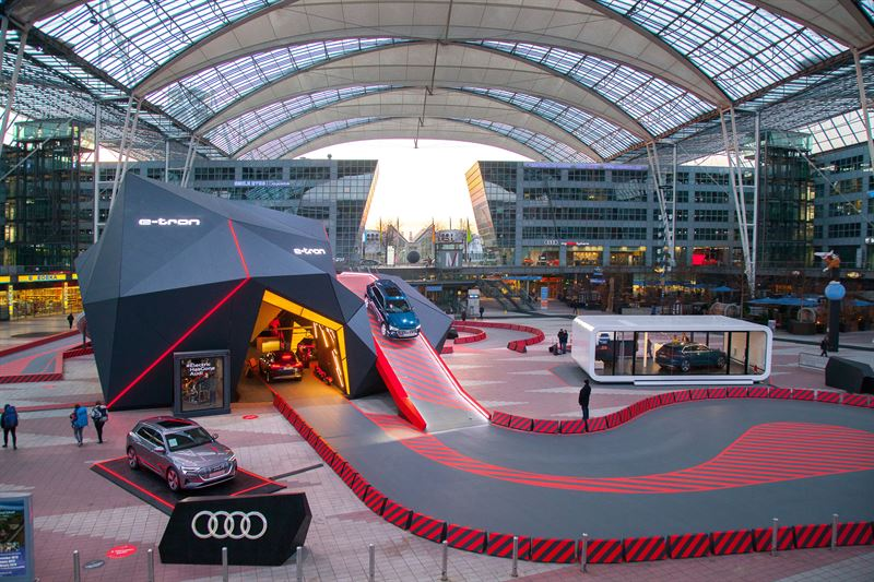 First Fully Electric Audi E-Tron on Display at Munich Airport
