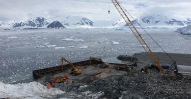 Construction Underway For New Antarctic Wharf