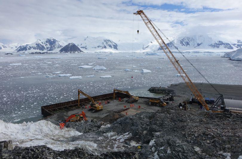 Construction Underway For New Antarctic Wharf