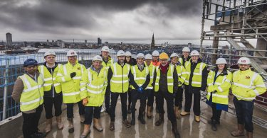 Morgan Sindall Construction & Infrastucture Celebrates Topping Out at £50 Million Mixed-Use Regeneration Scheme