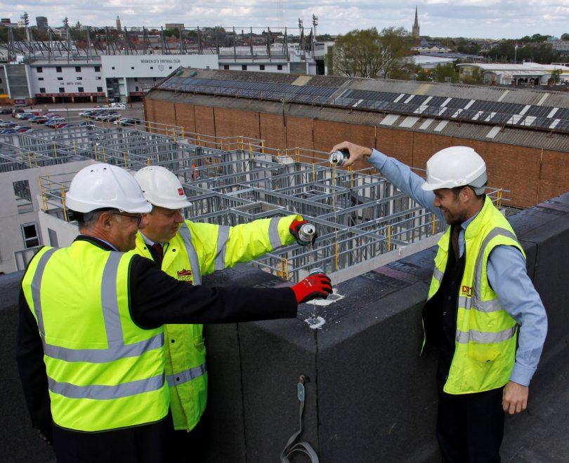 Milestone Reached at New City Centre Development in Norwich