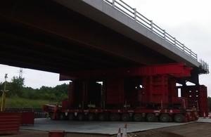 1,000 Tonne Bridge Installation for Southampton Motorway This Weekend