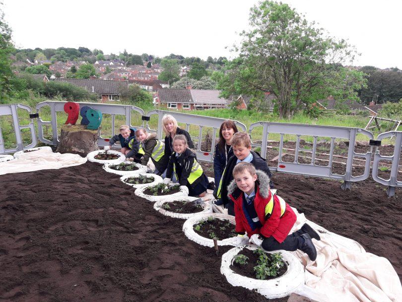 Blurton Children Create Church Garden to Celebrate World Environment Day