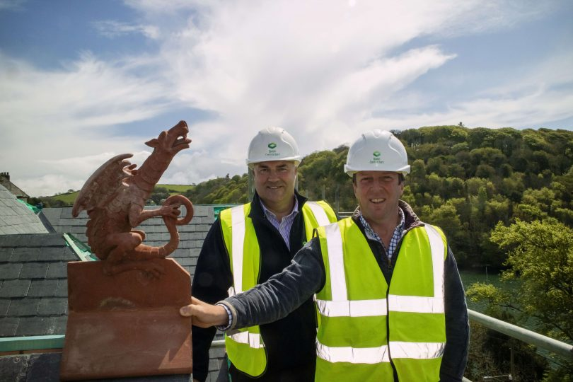 100 Year Old Dragons are Lovingly Restored for Topping out Ceremony at Former Yealm Hotel