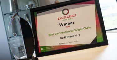 GAP's Supply Contribution Awarded by Major Customer