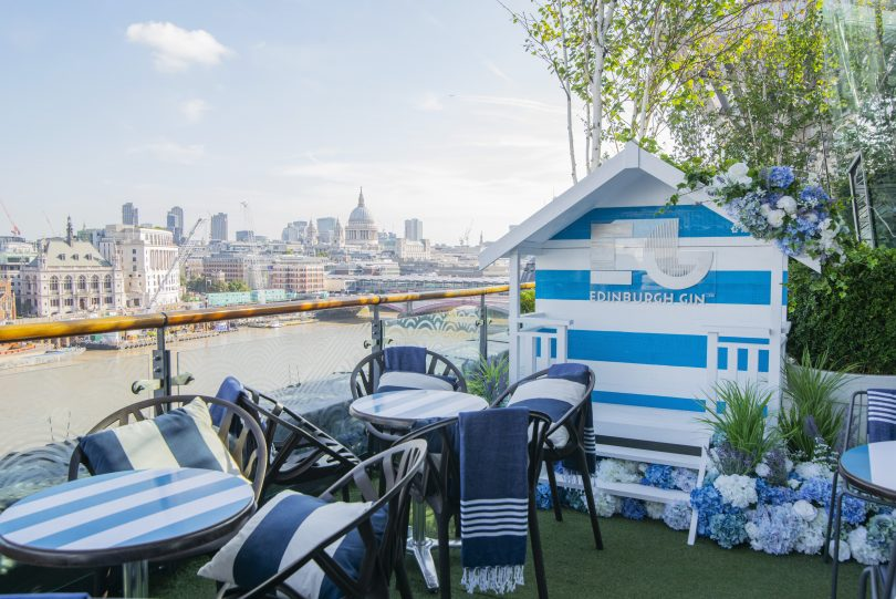 Edinburgh Gin Unveils OXO Tower Partnership with an Activation on the Banks of the River Thames