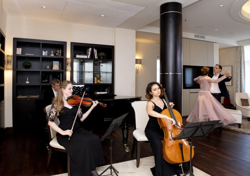 """Dancing through the Presidential Suite to a Waltz Composed Especially for Guests: """"Kempinski Waltz Time"""" - Unique Vienna Experience at the Palais Hansen Kempinski"""
