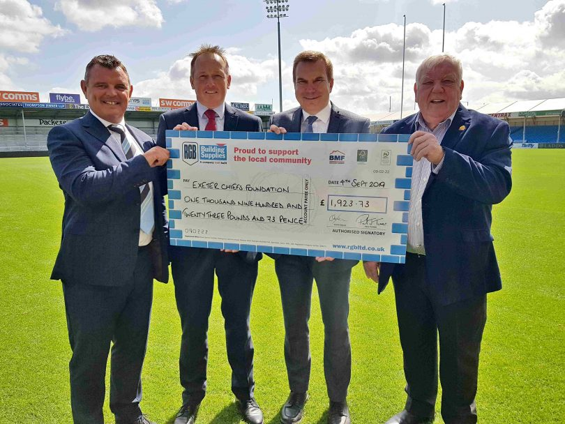 RGB Gets Ball Over the Line and Exceeds Chiefs' Fundraising Target