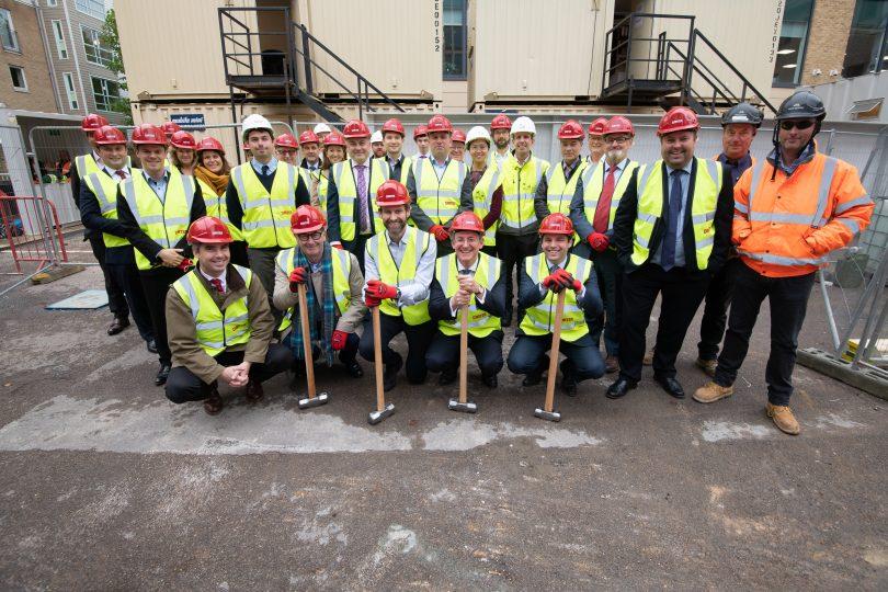 R G Carter starts work on landmark building in Cambridge's CB1