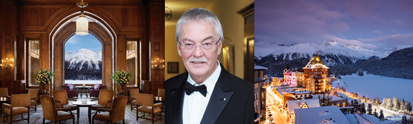 AEHL Lifetime Achievement Award for Hans Wiedemann Delegate of the Board at Badrutt's Palace, St. Moritz