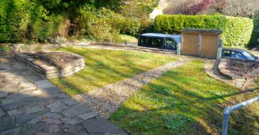 Covers Brighton donates materials to Patcham Memorial Hall Wildlife Garden